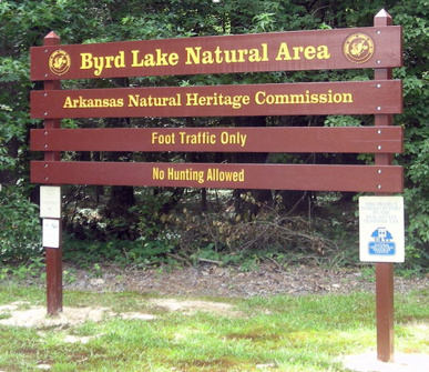 Byrd Lake Sign