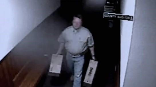 Williams removing equipment on surveillance